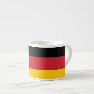 Germany Plain Flag 6 Oz Ceramic Espresso Cup