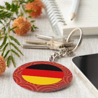 Germany round flag basic round button key ring