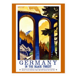 Germany s Black Forest Vintage Travel Poster Post Card