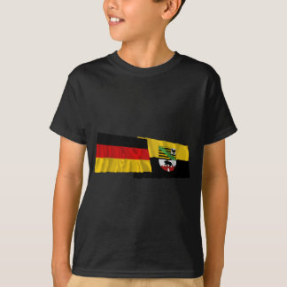Germany & Sachsen-Anhalt Waving Flags T-Shirt