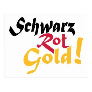 Germany schwarz rot gold postcard