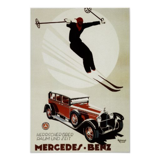 Germany - Skier Jumping Poster