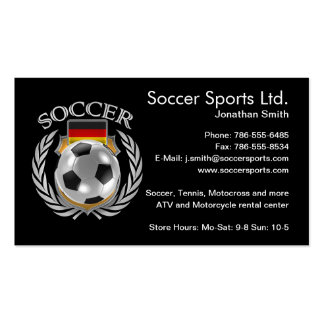 Germany Soccer 2016 Fan Gear Pack Of Standard Business Cards