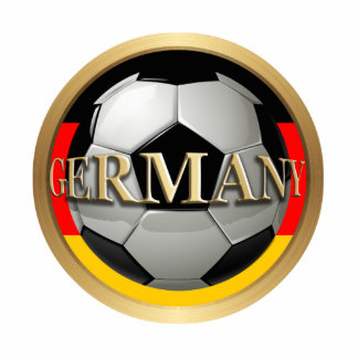Germany Soccer Ball Standing Photo Sculpture