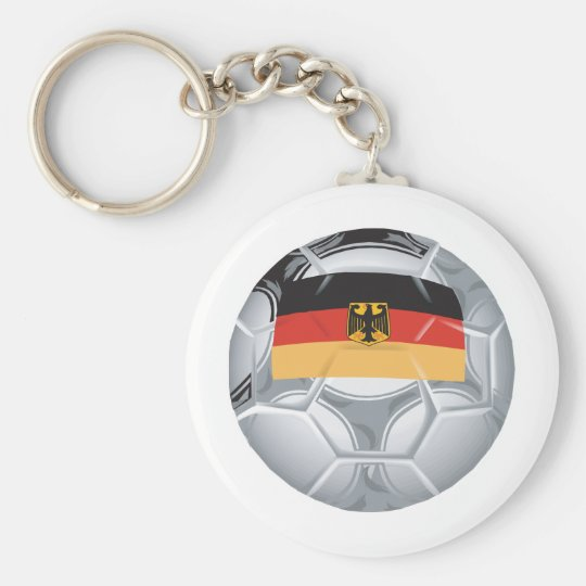 Germany Soccer Basic Round Button Key Ring