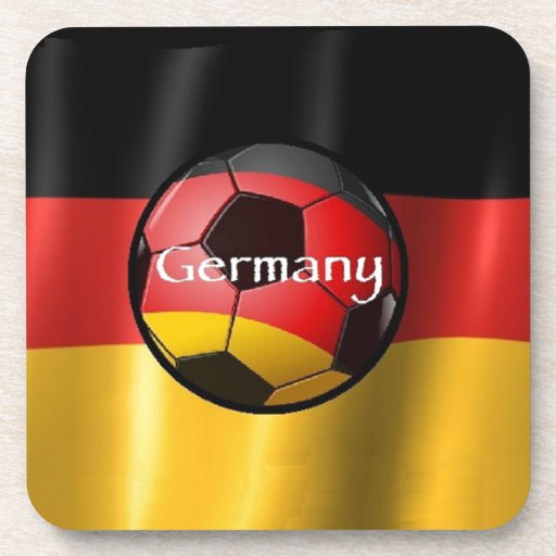 Germany Soccer Beverage Coasters