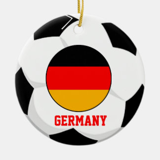 Germany Soccer Fan Ornament 3 Times World Cup Cham