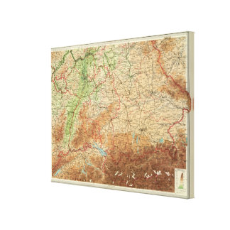 Germany southern section canvas print