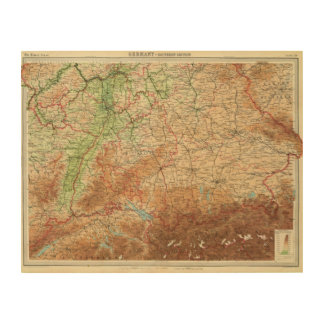Germany southern section wood wall art