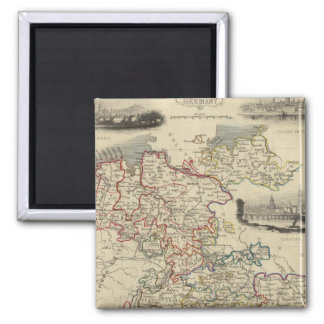 Germany Square Magnet