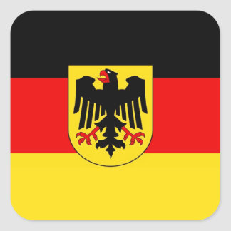 GERMANY SQUARE STICKER