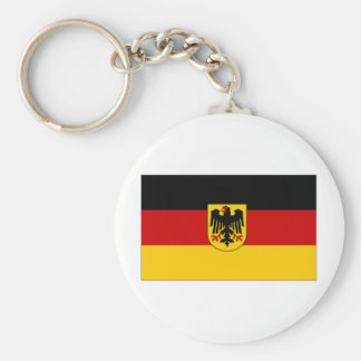Germany State Flag Basic Round Button Key Ring