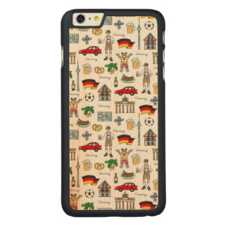 Germany | Symbols Pattern Carved Maple iPhone 6 Plus Case