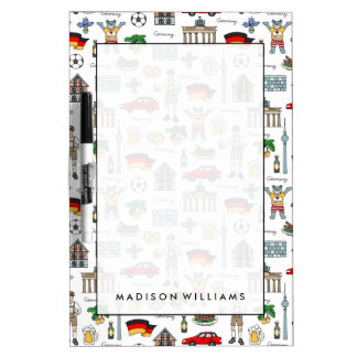 Germany | Symbols Pattern Dry Erase Board