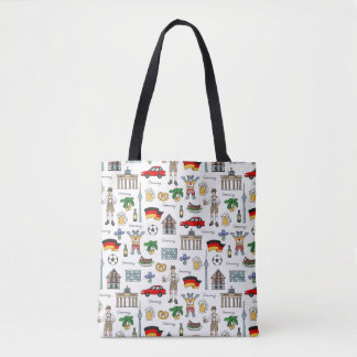 Germany | Symbols Pattern Tote Bag