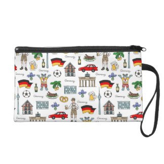 Germany | Symbols Pattern Wristlet Clutch