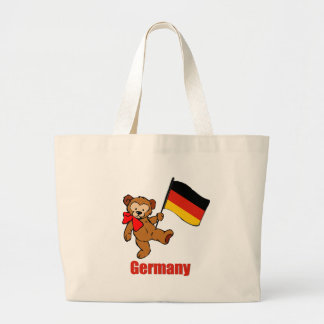 Germany Teddy Bear Large Tote Bag