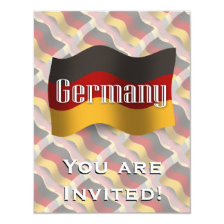 Germany Waving Flag 11 Cm X 14 Cm Invitation Card