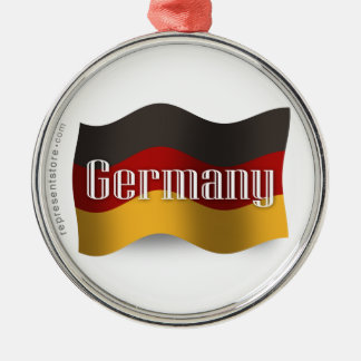 Germany Waving Flag Christmas Ornament