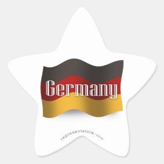 Germany Waving Flag Star Sticker