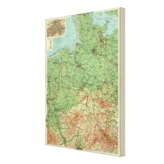 Germany western section canvas print