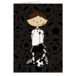 Germany World Cup Soccer Boy Greeting Card