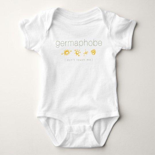 germaphobe (don't touch me) baby bodysuit