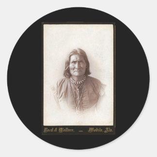Geronimo 1888 round sticker