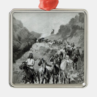 Geronimo and his Band Silver-Colored Square Decoration