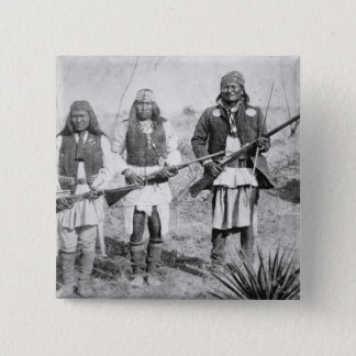 Geronimo and three of his Apache warriors, 1886 (b 15 Cm Square Badge