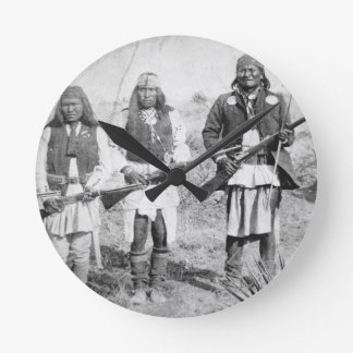 Geronimo and three of his Apache warriors, 1886 (b Clocks