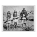 Geronimo and three of his Apache warriors, 1886 (b Poster