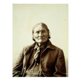 Geronimo (Guiyatle) Apache Native American Indian Postcard