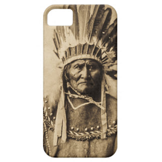 Geronimo in Head Dress Vintage Portrait Sepia iPhone 5 Cases
