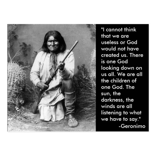 Geronimo Postcard