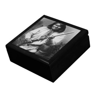 'Geronimo with Gun at the Ready' Large Square Gift Box