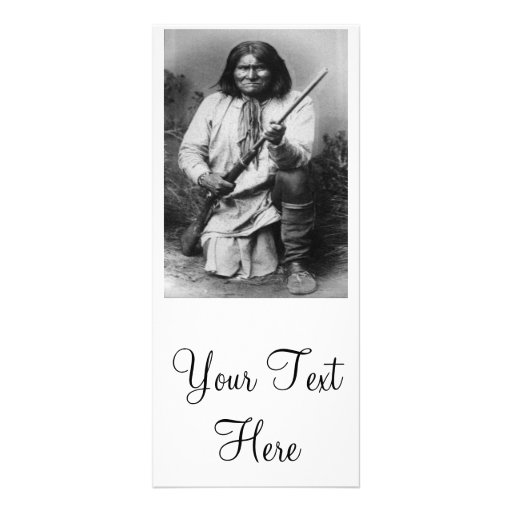 'Geronimo with Gun at the Ready' Rack Card Design