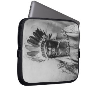 'Geronimo with Headdress' Laptop Computer Sleeves