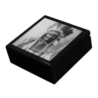 'Geronimo with Headdress' Large Square Gift Box