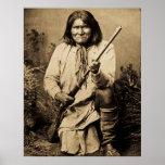 Geronimo with Rifle 1886 Poster