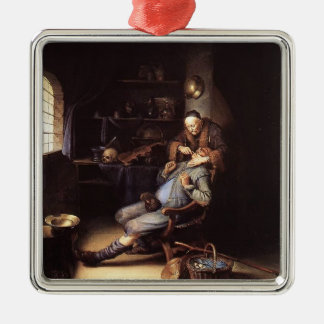 Gerrit Dou- The Extraction of Tooth Christmas Ornament