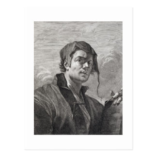 Gerrit van Honthorst (1590-1656), engraved by Cosi Postcard
