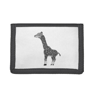 """""""Gerry"""" the giraffe (black and white) Trifold Wallet"""