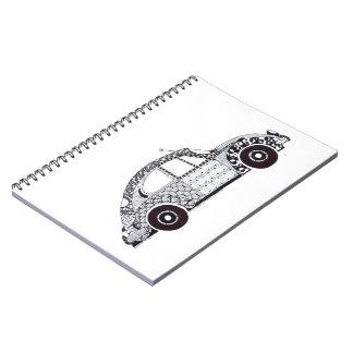 Gert Lush Doodle Bug Beetle Notepad Spiral Notebook