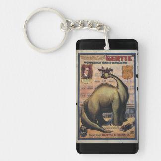 Gertie The Dinosaur Single-Sided Rectangular Acrylic Keychain
