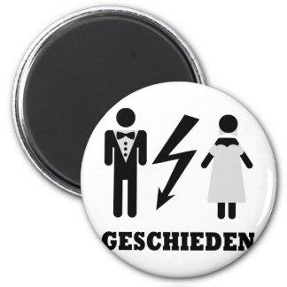 geschieden icon 6 cm round magnet