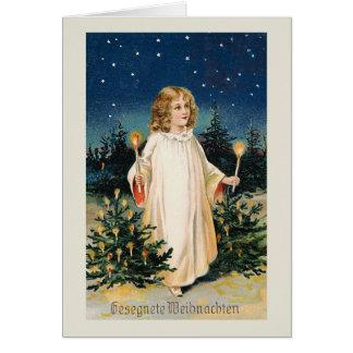 Gesegnete Weihnachten Vintage Christmas Card