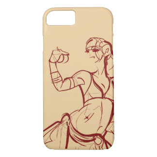 Gesture sketch drawing  tribal fusion bellydancer iPhone 8/7 case