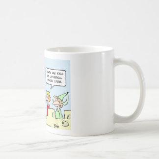 gesundheit king health care universal basic white mug