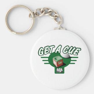 Get A Cue Key Ring